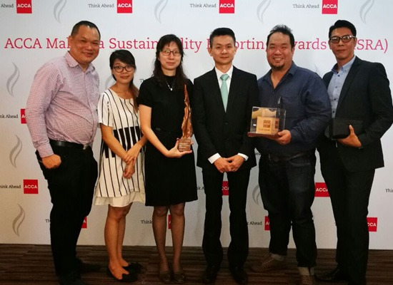 We had once again won the ACCA Malaysia Sustainability Reporting Award 2016 – Best Sustainability Reporting in SMEs on 10 January 2017 (Tuesday).