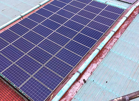 We had installed solar panel at the roof top of our building No. 52 on 14 August 2017.
