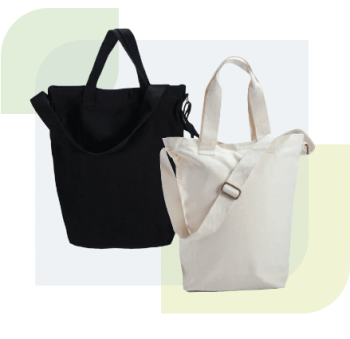 Our natural canvas bags are ultimately durable and waterproof with artistic and modern design. The bag print and bag-making are produced with excellent quality, making it suitable for corporate publicity and promotional materials