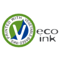 We use vegetable-based inks which are eco-friendly inks that can eliminate almost all of the hazardous volatile organic compounds (VOCs) in conventional printing ink.