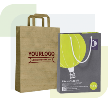Paper which is biodegradable and recyclable is the most common bag used for shopping and daily use. The types of paper that we mainly use are Kraft, Single or Multi Wall FSC, recycled paper or card which can be eco laminated, twisted or flat tap.